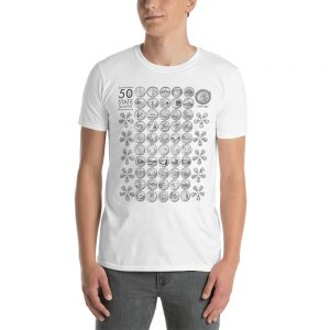 50 State Quarter Coin Carousels T-Shirt