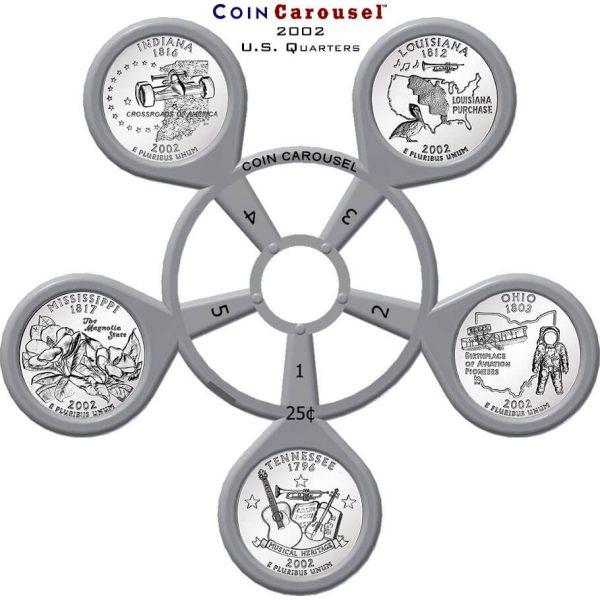 2002 50 State Quarter Coin Carousel
