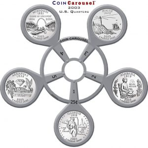 2003 50 State Quarter Coin Carousel