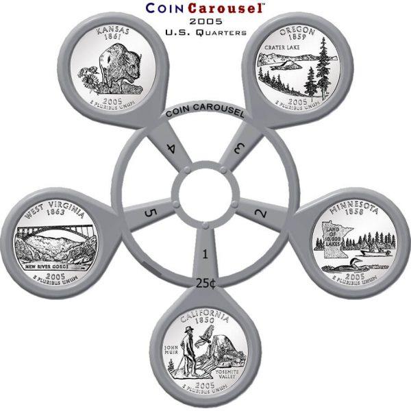 2005 50 State Quarter Coin Carousel