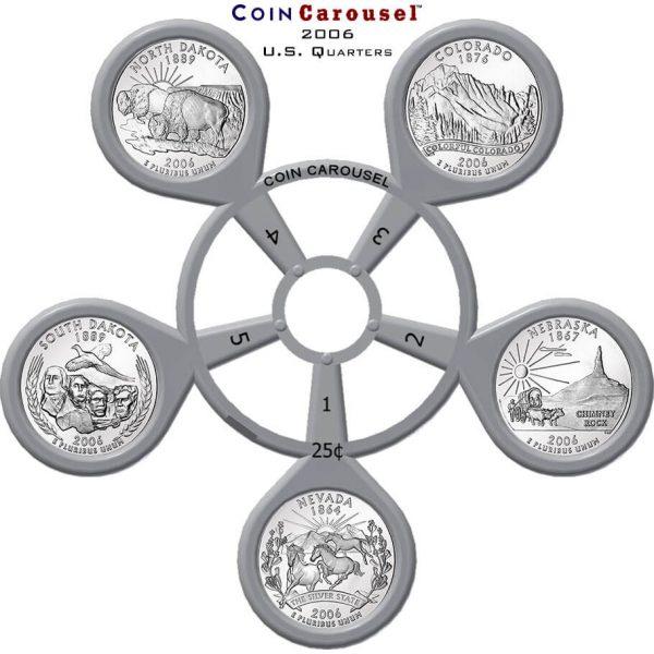 2006 50 State Quarter Coin Carousel