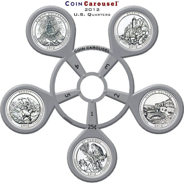 2012 America The Beautiful Quarter Coin Carousel
