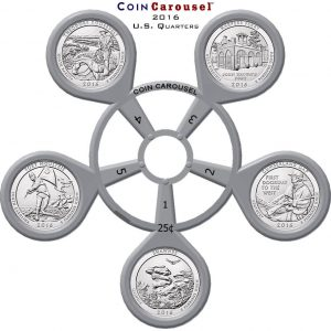 2016 America The Beautiful Quarter Coin Carousel