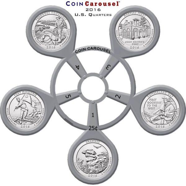 2016 America The Beautiful Quarter Coin Carousel