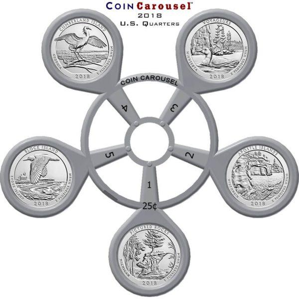 2018 America The Beautiful Quarter Coin Carousel